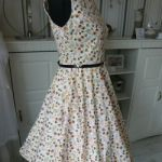 Kleid Cocktailkleid Rockabilly bunt Gr.40 neu